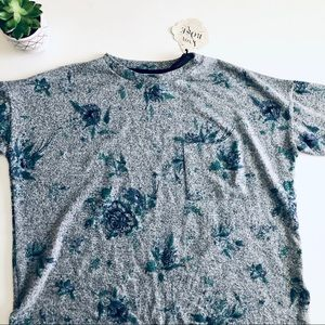 Knox Rose Sweaters - Knox Rose Short Sleeve Oversized Floral Sweater
